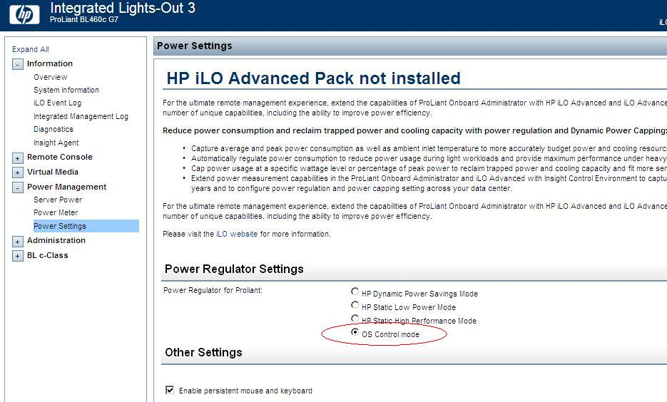 Is the HP power setting impacting your performance? | www